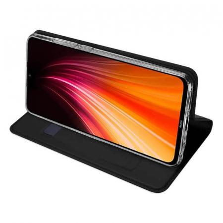 Husa Samsung Galaxy A21 2020 Toc Flip Tip Carte Portofel Negru Piele Eco Premium DuxDucis2