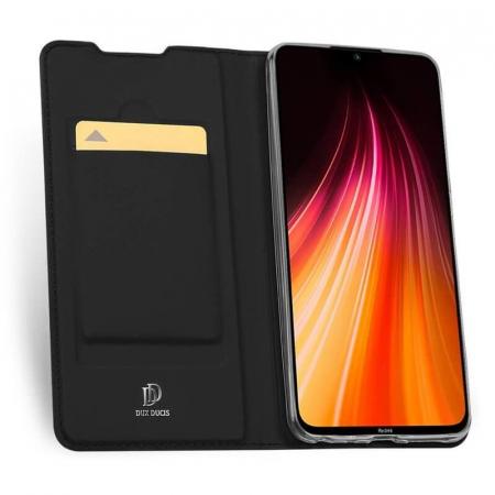 Husa Samsung Galaxy A21 2020 Toc Flip Tip Carte Portofel Negru Piele Eco Premium DuxDucis1