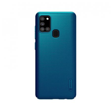 Husa Silicon Samsung Galaxy A21S Albastru Nillkin Frosted [0]