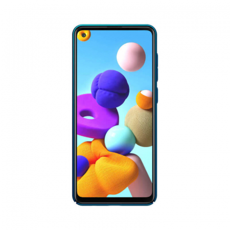 Husa Silicon Samsung Galaxy A21S Albastru Nillkin Frosted [1]