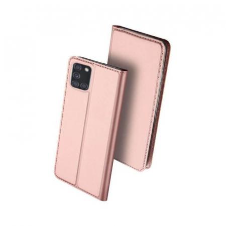 Husa Flip Samsung Galaxy A21S Tip Carte Roz Skin DuxDucis