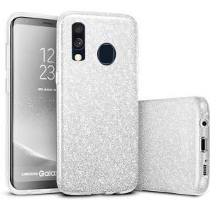 Husa Samsung Galaxy A40 2019 Argintiu Color Silicon TPU Carcasa Sclipici Silver [0]