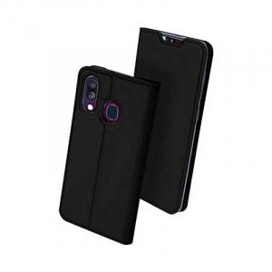 Husa Flip Samsung Galaxy A40 Tip Carte Negru Skin DuxDucis1