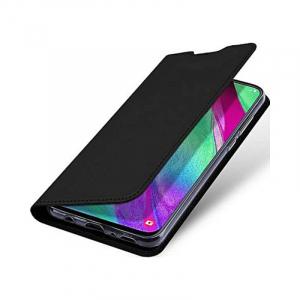 Husa Flip Samsung Galaxy A40 Tip Carte Negru Skin DuxDucis4