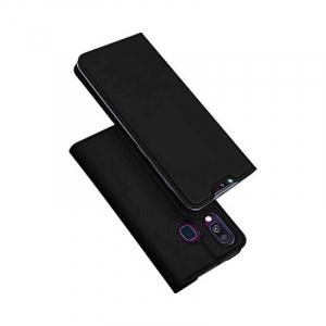 Husa Flip Samsung Galaxy A40 Tip Carte Negru Skin DuxDucis0