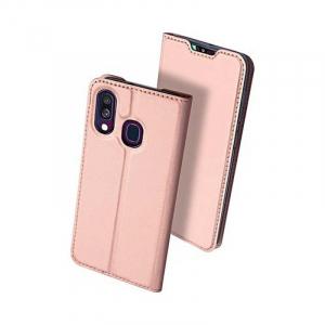 Husa Samsung Galaxy A40 2019 Roz Toc Piele Eco Premium DuxDucis Portofel Flip Cover Magnetic [1]