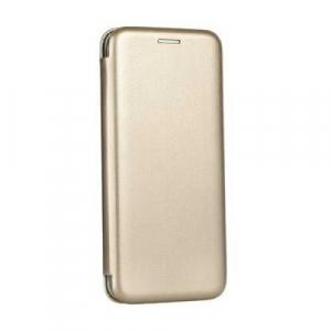 Husa Samsung Galaxy A40 2019 Tip Carte Gold Flip Cover din Piele Ecologica Portofel cu Inchidere Magnetica Auriu0