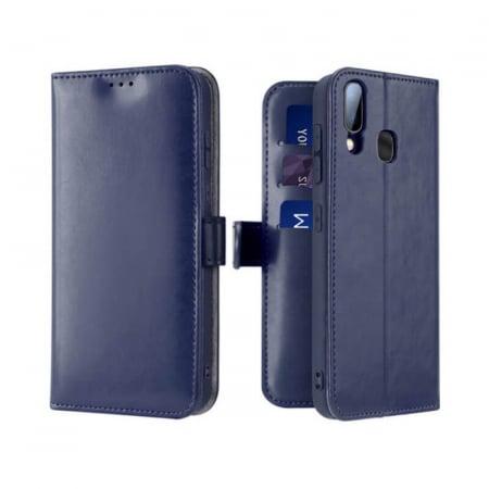 Husa Samsung Galaxy A40 2019 Toc Flip Tip Carte Portofel Albastru Kado [0]
