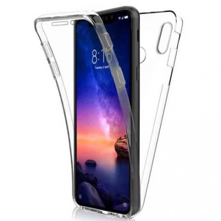 Husa Samsung Galaxy A40 360 Grade Silicon Fata Spate Transparenta