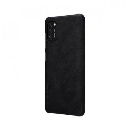 Husa Flip Samsung Galaxy A41 Negru Tip Carte Magnetica Nillkin Qin5