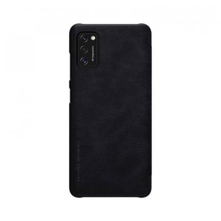 Husa Flip Samsung Galaxy A41 Negru Tip Carte Magnetica Nillkin Qin2