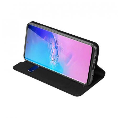 Husa Flip Samsung Galaxy A41 Tip Carte Negru Skin DuxDucis2