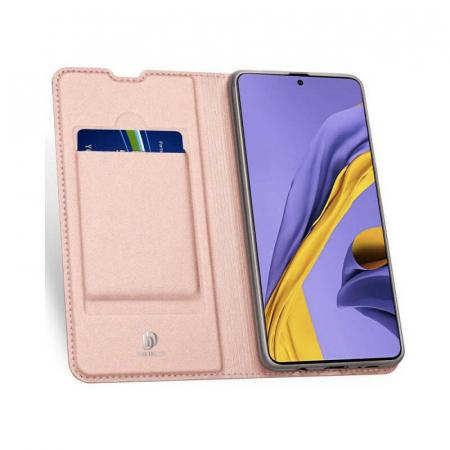 Husa Flip Samsung Galaxy A41 Tip Carte Roz Skin DuxDucis1