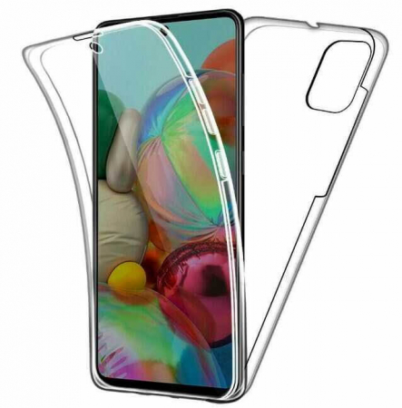 Husa Samsung Galaxy A41 Full Cover 360 Grade Transparenta0