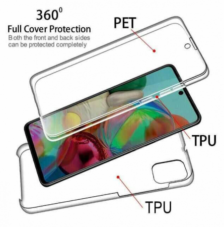 Husa Samsung Galaxy A41 Full Cover 360 Grade Transparenta1