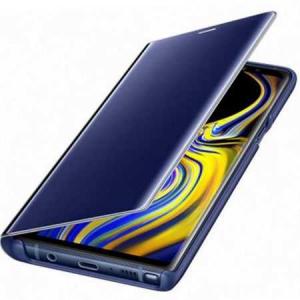 Husa Samsung Galaxy A5 / A8 2018 Clear View Flip Toc Carte Standing Cover Oglinda Albastru (Blue)4