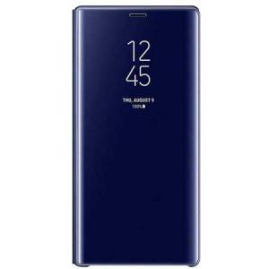 Husa Samsung Galaxy A5 / A8 2018 Clear View Flip Toc Carte Standing Cover Oglinda Albastru (Blue)0