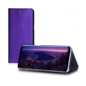 Husa Samsung Galaxy A5 / A8 2018 Clear View Flip Toc Carte Standing Cover Oglinda Mov (Purple)1