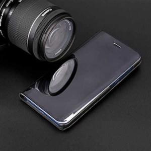 Husa Samsung Galaxy A5 / A8 2018 Clear View Flip Toc Carte Standing Cover Oglinda Negru (Black)4