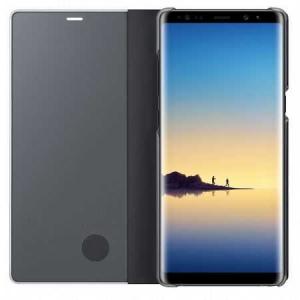Husa Samsung Galaxy A5 / A8 2018 Clear View Flip Toc Carte Standing Cover Oglinda Negru (Black)1