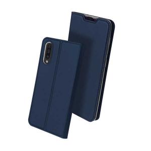 Husa Samsung Galaxy A50 2019 Bleumarin Piele Eco Toc Tip Carte Portofel Premium DuxDucis [0]