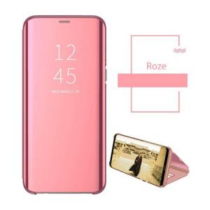 Husa Samsung Galaxy A50 2019 Clear View Flip Standing Cover (Oglinda) Roz (Rose Gold)2