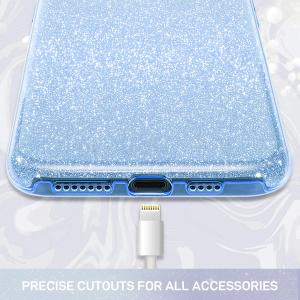 Husa de protectie Samsung Galaxy A30 / Samsung Galaxy A50 2019 Albastra Sclipici Color Silicon TPU Carcasa2