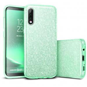 Husa de protectie Samsung Galaxy A30 / Samsung Galaxy A50 2019 Verde Sclipici Color Silicon TPU Carcasa0