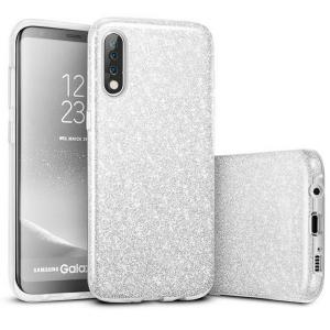 Husa de protectie Samsung Galaxy A30 / A50 Argintie Sclipici Color Silicon Silver0