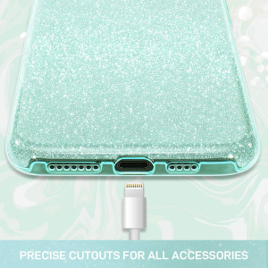 Husa de protectie Samsung Galaxy A30 / Samsung Galaxy A50 2019 Verde Sclipici Color Silicon TPU Carcasa1