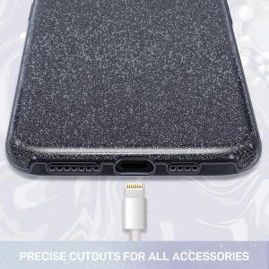Husa de protectie Samsung Galaxy A30/ A50 Neagra Sclipici Color Silicon Carcasa2