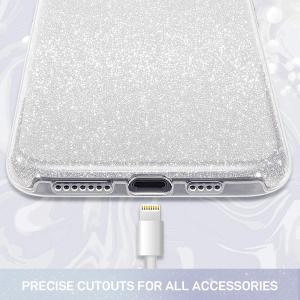 Husa de protectie Samsung Galaxy A30 / A50 Argintie Sclipici Color Silicon Silver2