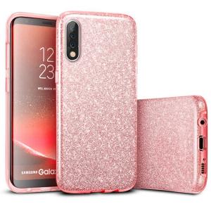 Husa de protectie Samsung Galaxy A30 / Samsung Galaxy A50 2019 Roz Sclipici Color Silicon TPU Carcasa0