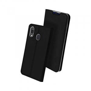 Husa Samsung Galaxy A50 2019 Negru Piele Eco Toc Tip Carte Portofel Premium DuxDucis0