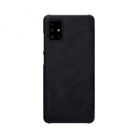 Husa Samsung Galaxy A51 2019 Negru Toc Flip Nillkin Qin Piele Eco Premium Tip Carte Portofel1