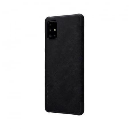 Husa Samsung Galaxy A51 2019 Negru Toc Flip Nillkin Qin Piele Eco Premium Tip Carte Portofel5