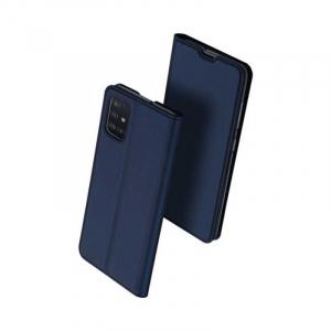 Husa Flip Samsung Galaxy A51 Tip Carte Albastru Skin DuxDucis0