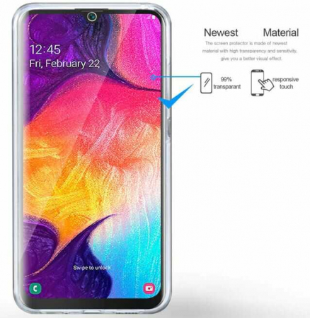 Husa Samsung Galaxy A51 360 Grade Silicon Fata Spate Transparenta3