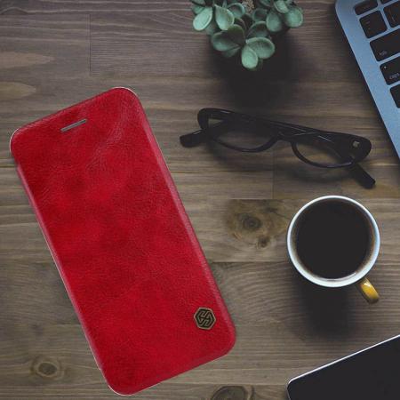 Husa Flip Samsung Galaxy A51 Rosu Tip Carte Magnetica Nillkin Qin [3]