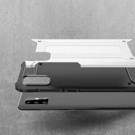 Husa Samsung Galaxy A51 Silicon Antisoc Negru Hybrid Armor [2]