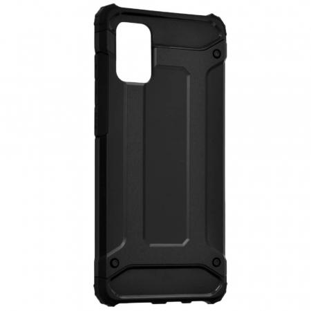 Husa Samsung Galaxy A51 Silicon Antisoc Negru Hybrid Armor [4]