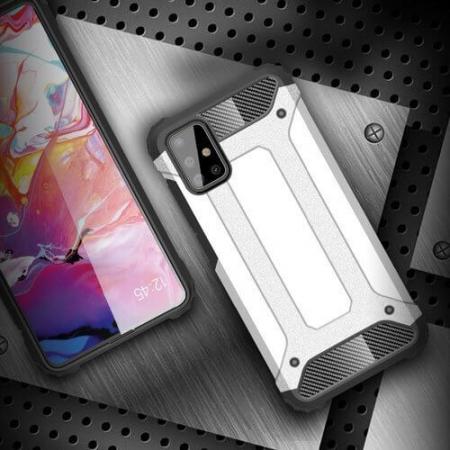 Husa Samsung Galaxy A51 Silicon Antisoc Negru Hybrid Armor [6]
