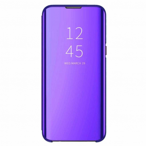 Husa Samsung Galaxy A6 Plus 2018 Clear View Flip Toc Carte Standing Cover Oglinda Mov (Purple)0