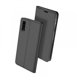 Husa Samsung Galaxy A7 2018 Toc Flip Portofel Negru Piele Eco DuxDucis [0]