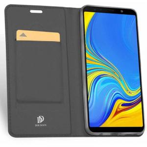 Husa Samsung Galaxy A7 2018 Toc Flip Portofel Negru Piele Eco DuxDucis [1]