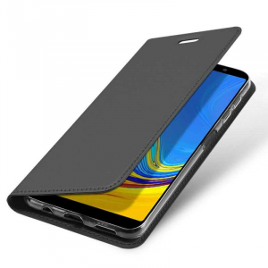 Husa Samsung Galaxy A7 2018 Toc Flip Portofel Negru Piele Eco DuxDucis [3]