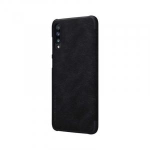 Husa Samsung Galaxy A70 2019 Negru Toc Flip Nillkin Qin Piele Eco Premium Tip Carte Portofel [4]