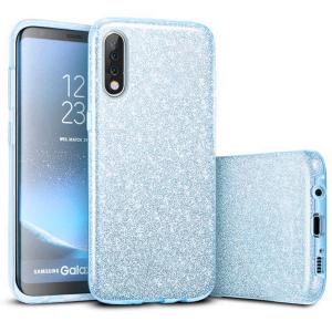 Husa Samsung Galaxy A70 2019 Sclipici TPU Carcasa Spate Albastru Glitter0