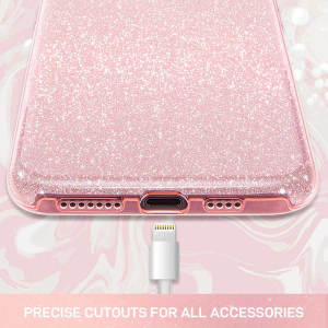 Husa Samsung Galaxy A70 Sclipici Roz Glitter4