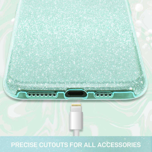 Husa Samsung Galaxy A70 Sclipici Verde Glitter2